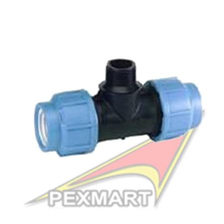HDPE Catalogue, Compression Fittings, TEE 90deg (MALE)